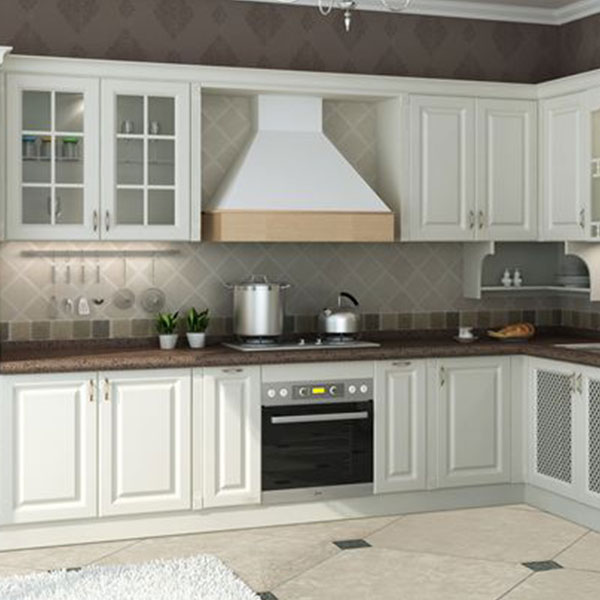 Classic style PVC kitchen cabinet Model No. PV01