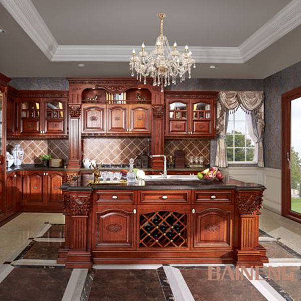 Classic style solid wood kitchen cabinet Model No. SW01