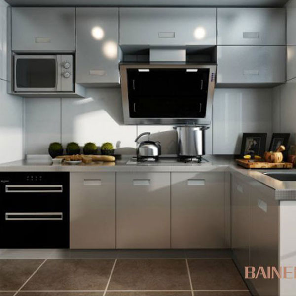 modern new model kitchen cabinet from stainless steel kitchen cabinet factory
