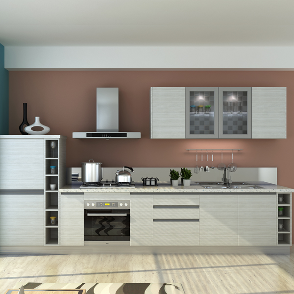 melamine series flat pack kitchen cabinet from modular kitchen cabinet factory