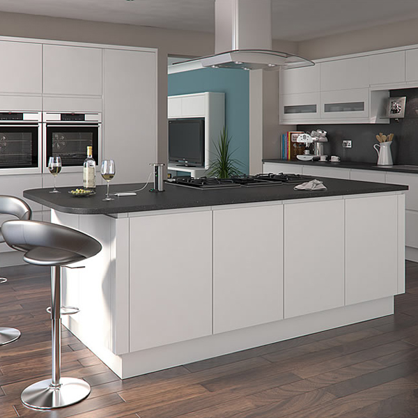 Modern white lacquer flat pack kitchen cabinet for sale