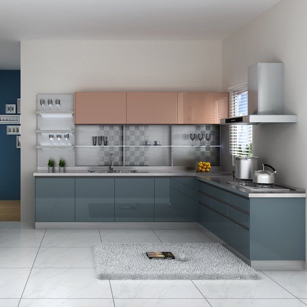 modern kitchen furniture acrylic kitchen cabinet door with moderate price