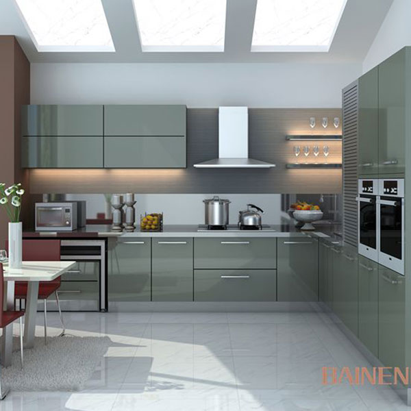 Modern high gloss kitchen cabinet Model No.LQ01