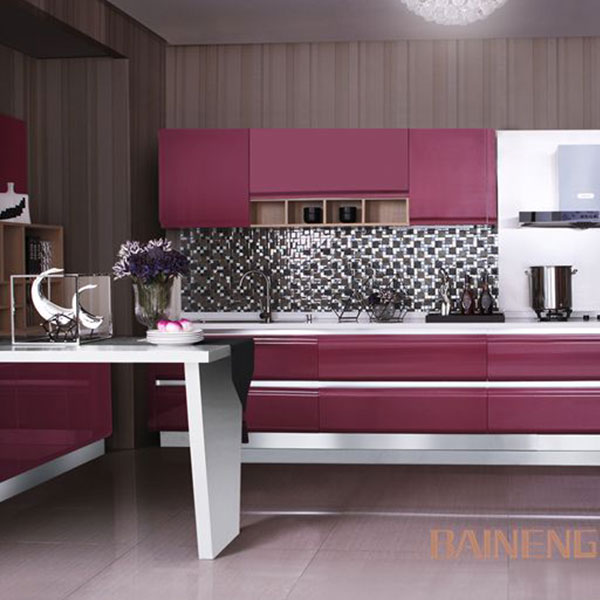 Modern high gloss lacquer kitchen cabinet Model No. LQ02
