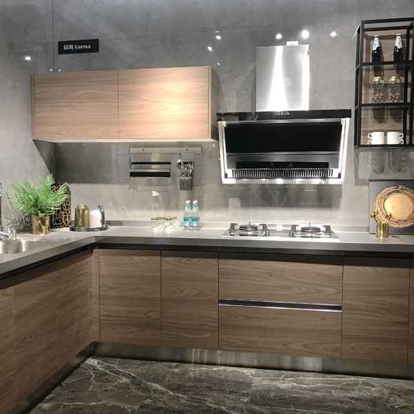 Modular kitchen cabinet factory supply melamine kitchen cabinet