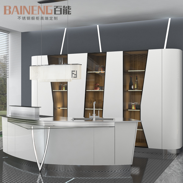 stainless steel kitchen cabinet manufacturer display kitchen cabinet for sale