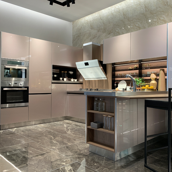 New model stainless steel kitchen cabinet from Guangzhou kitchen cabinet factory