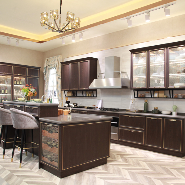 Simple style stainless steel kitchen design from china kitchen cabinet factory