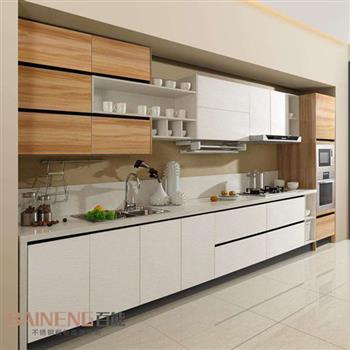 Melamine kitchen cabinet color combination with good kitchen cabinet price