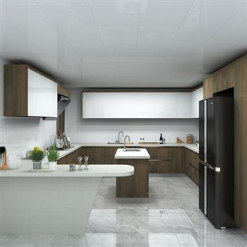 Wholesale kitchen cupboards with waterproof stainless steel cabinet