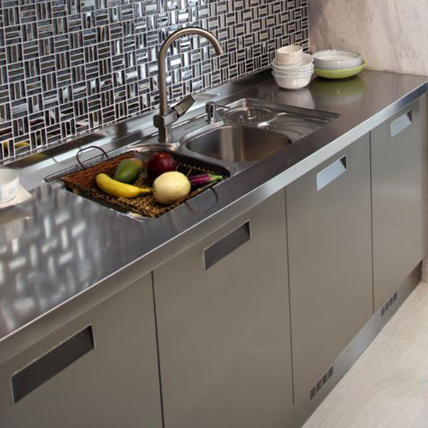 Fashionable stainless steel kitchen cabinet Model No. FS04 02