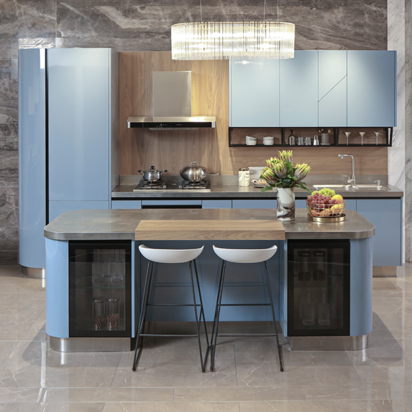 Wooden Kitchen Cabinets Factory Custom Kitchen Cabinet Sets Design Manufacturer Baineng