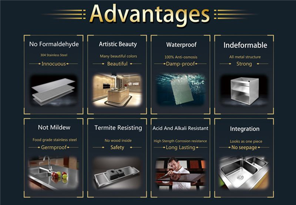 stainless steel kitchenn cabinet advantages