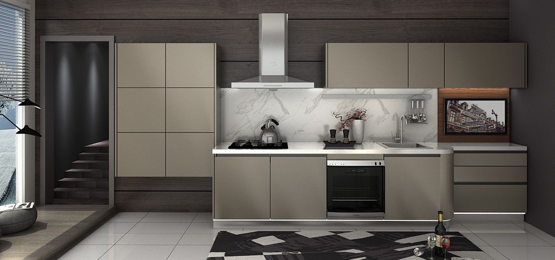 Baineng High End Customized Kitchen Cabinet